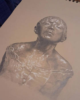 dibujo de una escultura