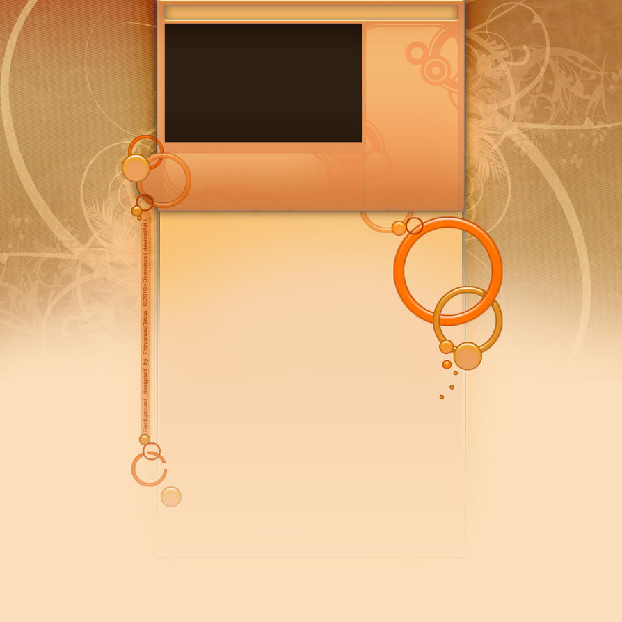 Orange Layout FREE YouTube BG by demeters
