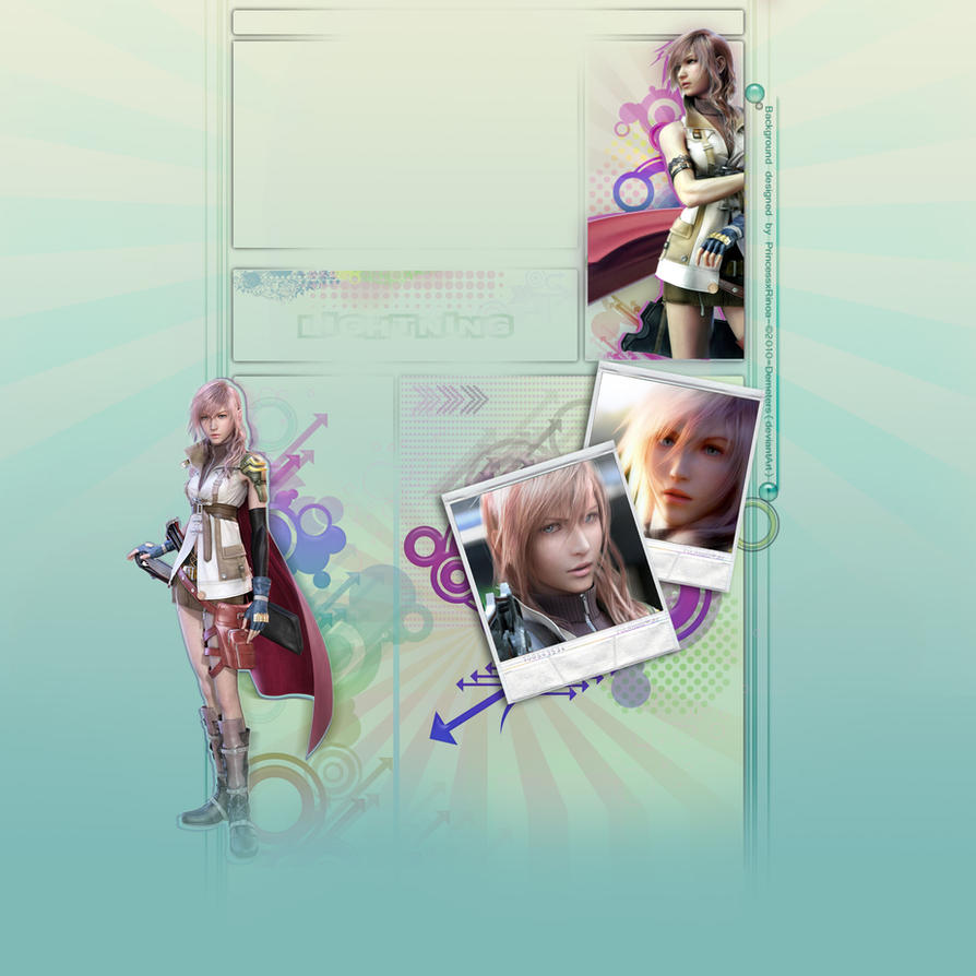 FREE YT layout_Lightning FF13 by demeters