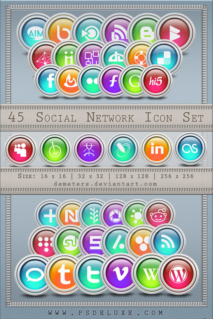 Ultimate Social Network Icons by demeters