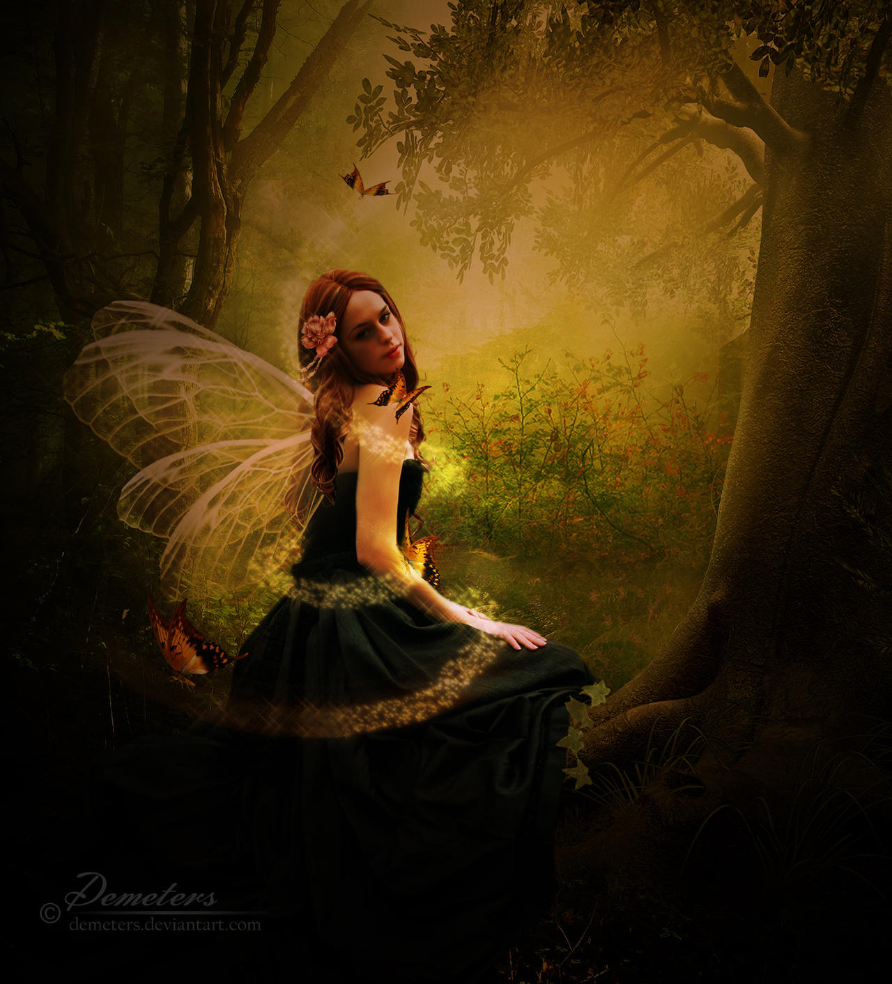 Enchanted forest fairy by demeters