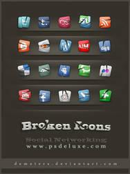 Social Networking-Broken Icons