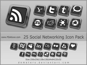 Elegant Social Network Icon pack - update 2012