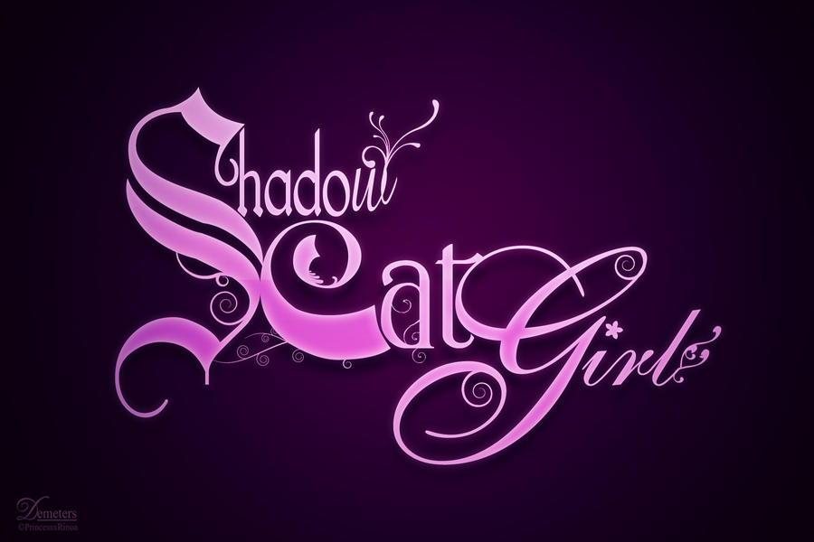 Shadowcatgirl Logo by demeters