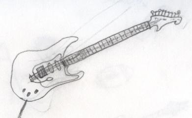 Guitar Drawing Sketch