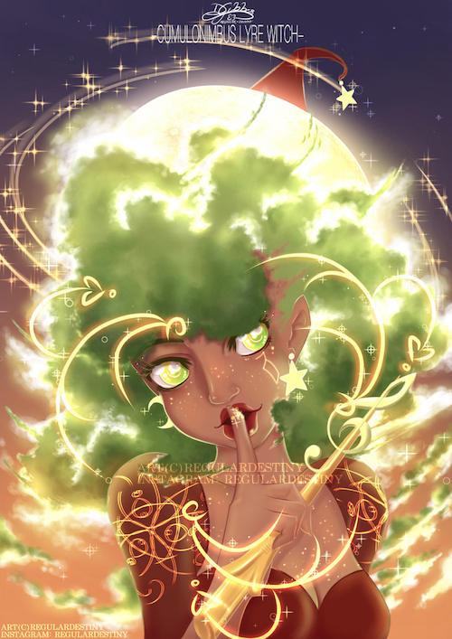 Cumulonimbus Lyre Witch
