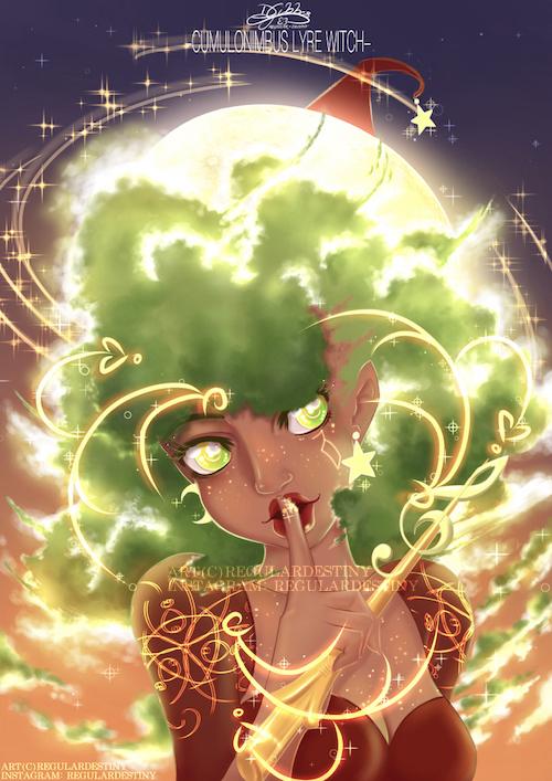 Cumulonimbus Lyre Witch by lDestiny
