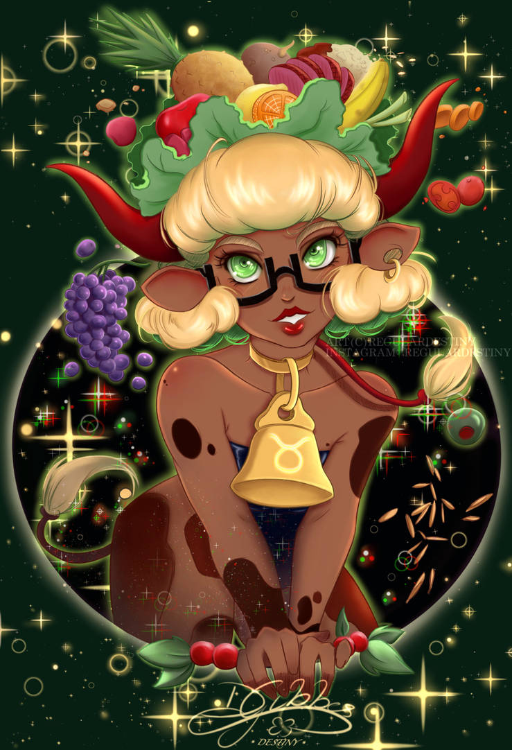 Taurus - Horoscope Sign w/ Glasses