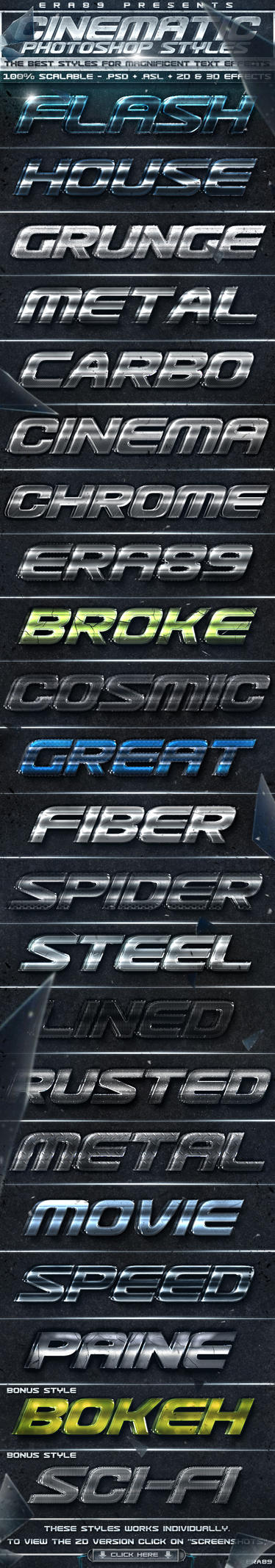 Cinematic Text Effects Styles by KoolGfx