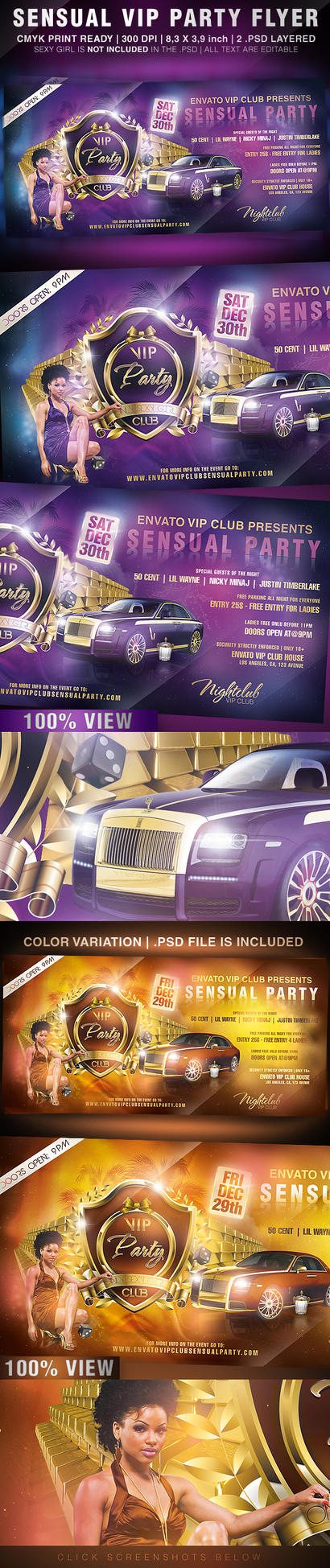 Sensual VIP Party Flyer by KoolGfx