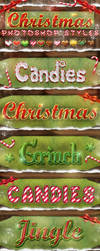 Christmas Photoshop Styles - Text Effects by KoolGfx