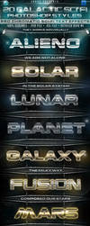 20 Galactic Sci-Fi Chromatic PS Styles by KoolGfx