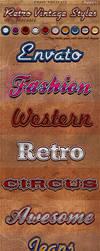 Retro Vintage Photoshop Styles by KoolGfx