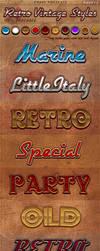 Retro Vintage Photoshop Styles Pack 2 by KoolGfx