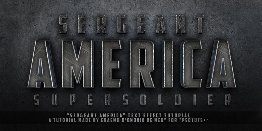 Tutorial - Create a Captain America Text Effect by KoolGfx