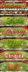 Christmas Photoshop Styles V2 by KoolGfx