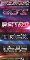 80's Retro Photoshop Styles Pack 4