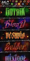 Gothic Text Effects v2 - Photoshop Styles