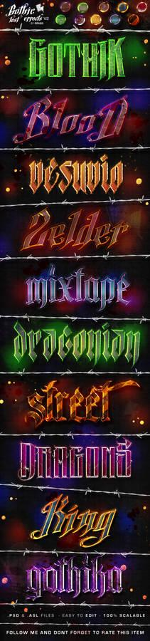 Gothic Text Effects v2 - Photoshop Styles