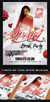 The Spring Break Party Flyer - PSD Template