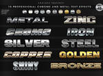 5 Professional Chrome Text Effects - PS Styles