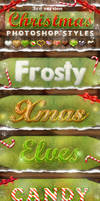 Christmas Photoshop Styles V3
