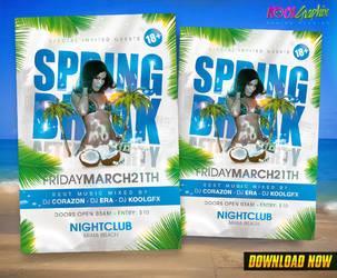 Spring Break After Party Flyer by KoolGfx