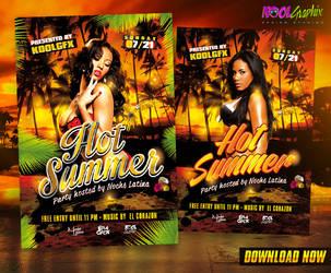 Hot Summer Party Flyer by KoolGfx