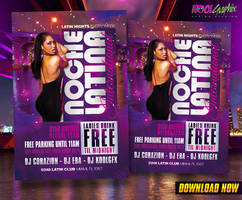 Latin Night - Noche Latin Club Party Flyer