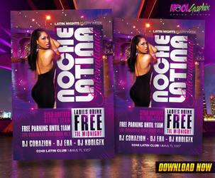 Latin Night - Noche Latin Club Party Flyer by KoolGfx