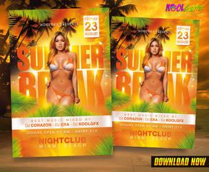 Summer Break Party Flyer by KoolGfx