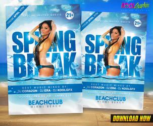 Spring Break Party Flyer by KoolGfx