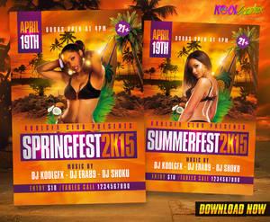 Spring / Summer Fest Party Flyer