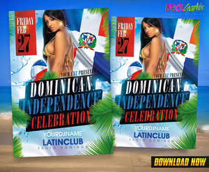 Dominican Independence Celebration Party Flyer