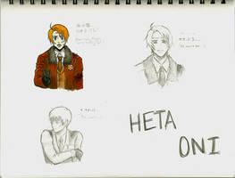 HetaOni Sketch Dump 7 by fullxmetalxgir