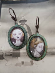 Sissies Verdigris Earrings