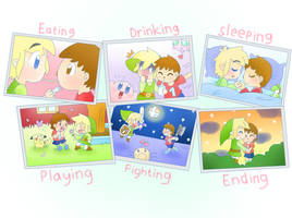 Toon Link and Villager Photos by LinkHimekawa