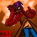 Zequo Merlin pixel by KingOfNeon