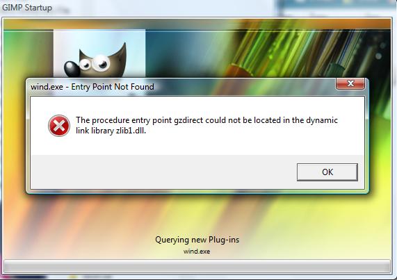 gimp 2.8 zlib1.dll error[SOLVED] by KingOfNeon