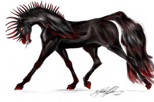 stallion of nightmares by moonfeather
