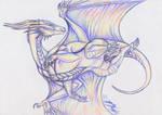 Dragoness in flight