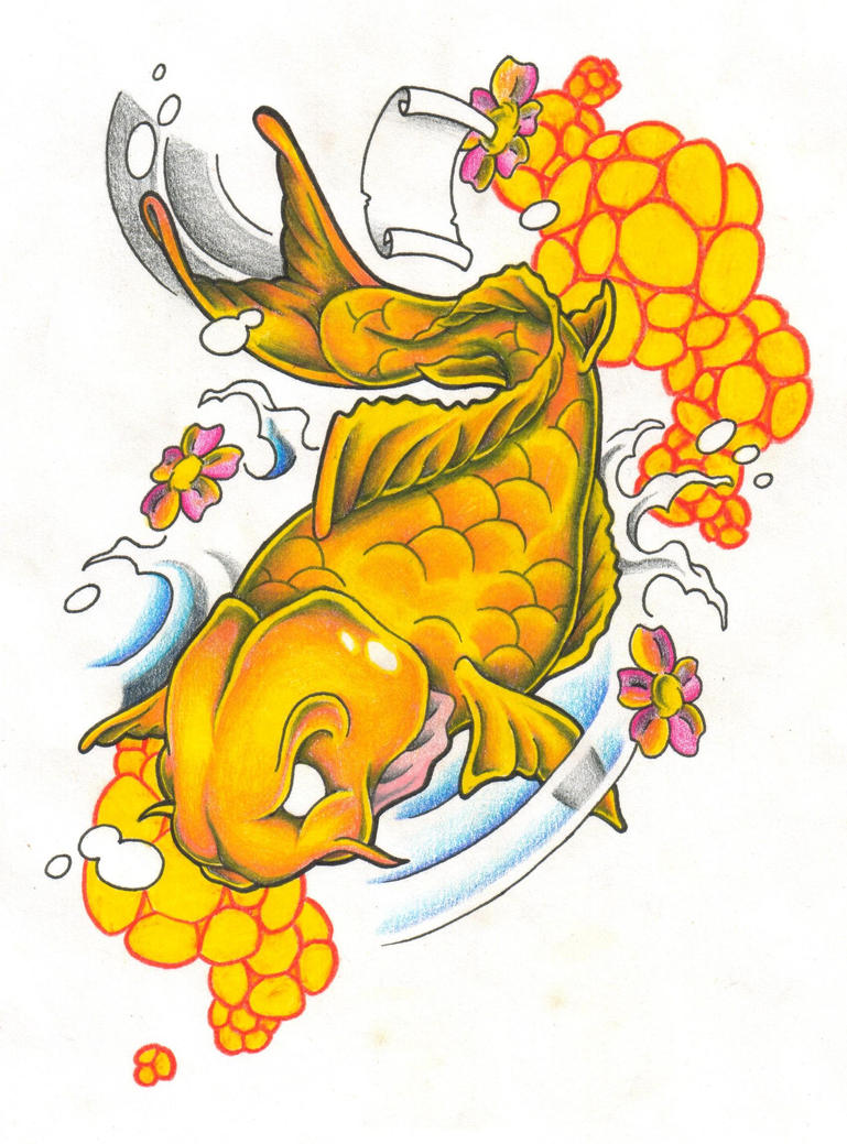 Japanese Koi Fish Tattoo Designs Gallery 17
