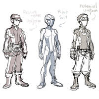 Sketch 113 :  Crew  Uniform by ManiacPaint