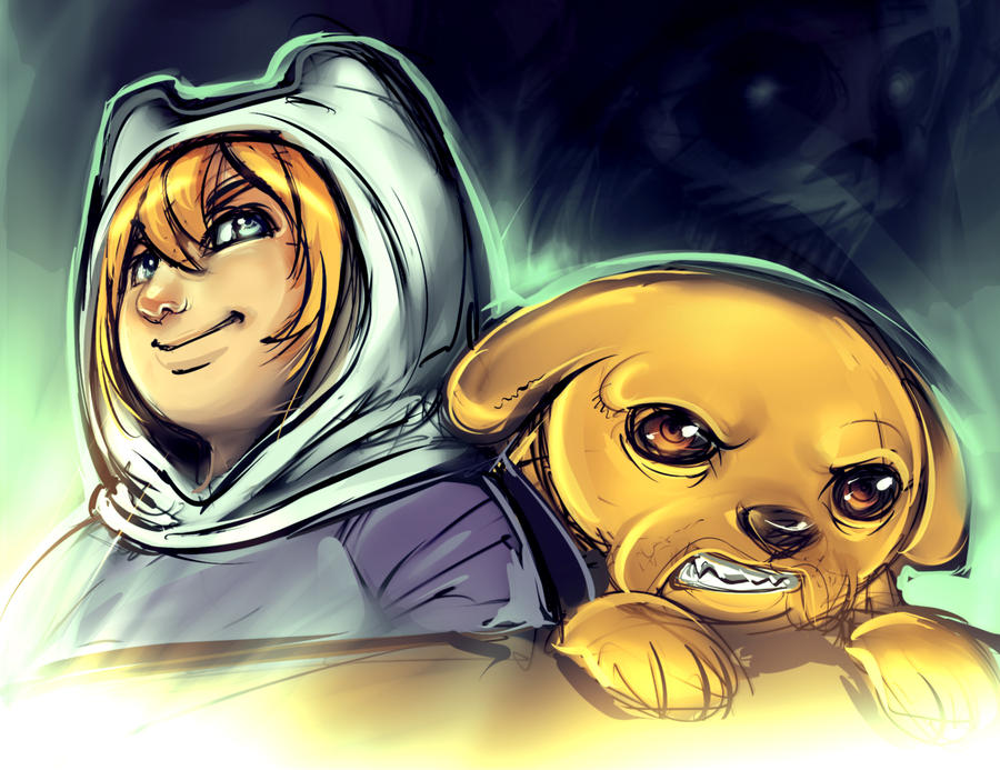 Finn And Jake by ManiacPaint