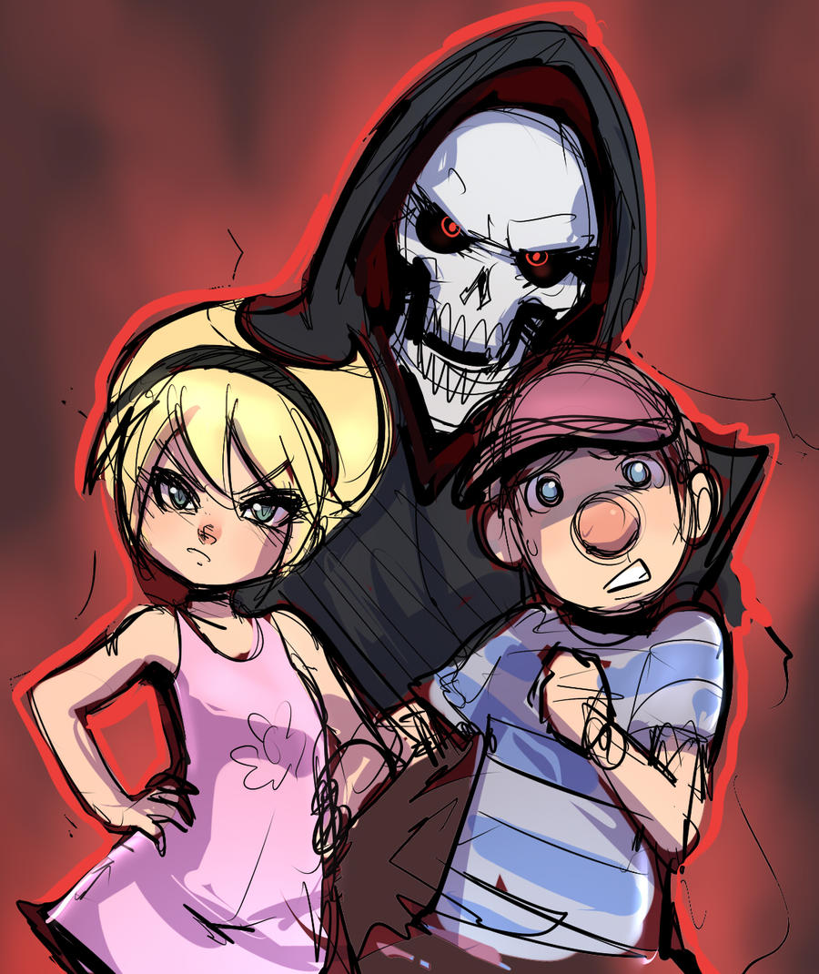 Grim, Billy, And Mandy On GrimXMandy