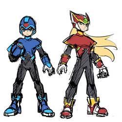 Sketch : Megaman and Zero