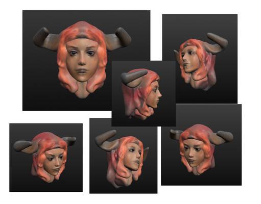 Head3d Demongirl