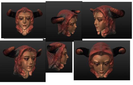 3Dhead DemonGirl v2