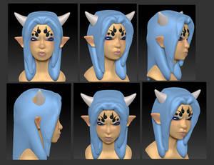 3DStudyHead DemonGirl v3
