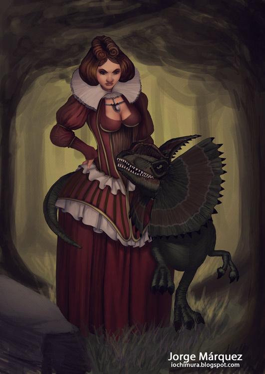 Elizabeth and Dee by JorgeMarquez